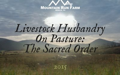 Sacred Order: Livestock Husbandry on Pasture (Presentation)